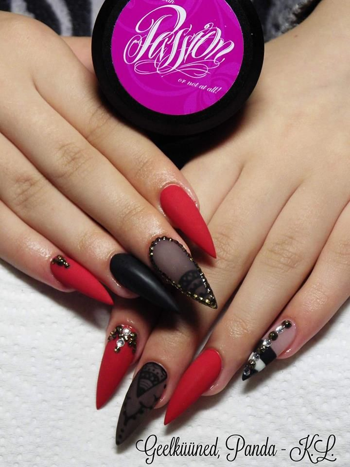 Red black nails nails pinterest red black nails and black red black nails urmus Images