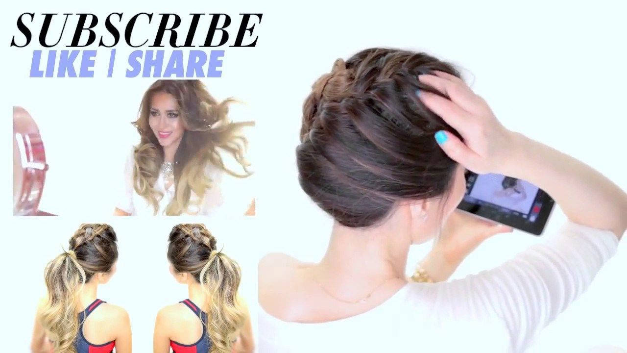 Minute french braid updo easy summer hairstyles