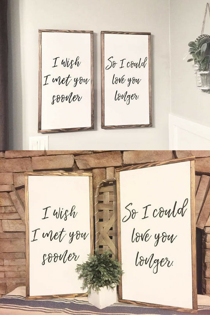 Love Decor Signs Glamorous $4499 I Wish I Met You Sooner Wood Signs Farmhouse Farmhouse Review