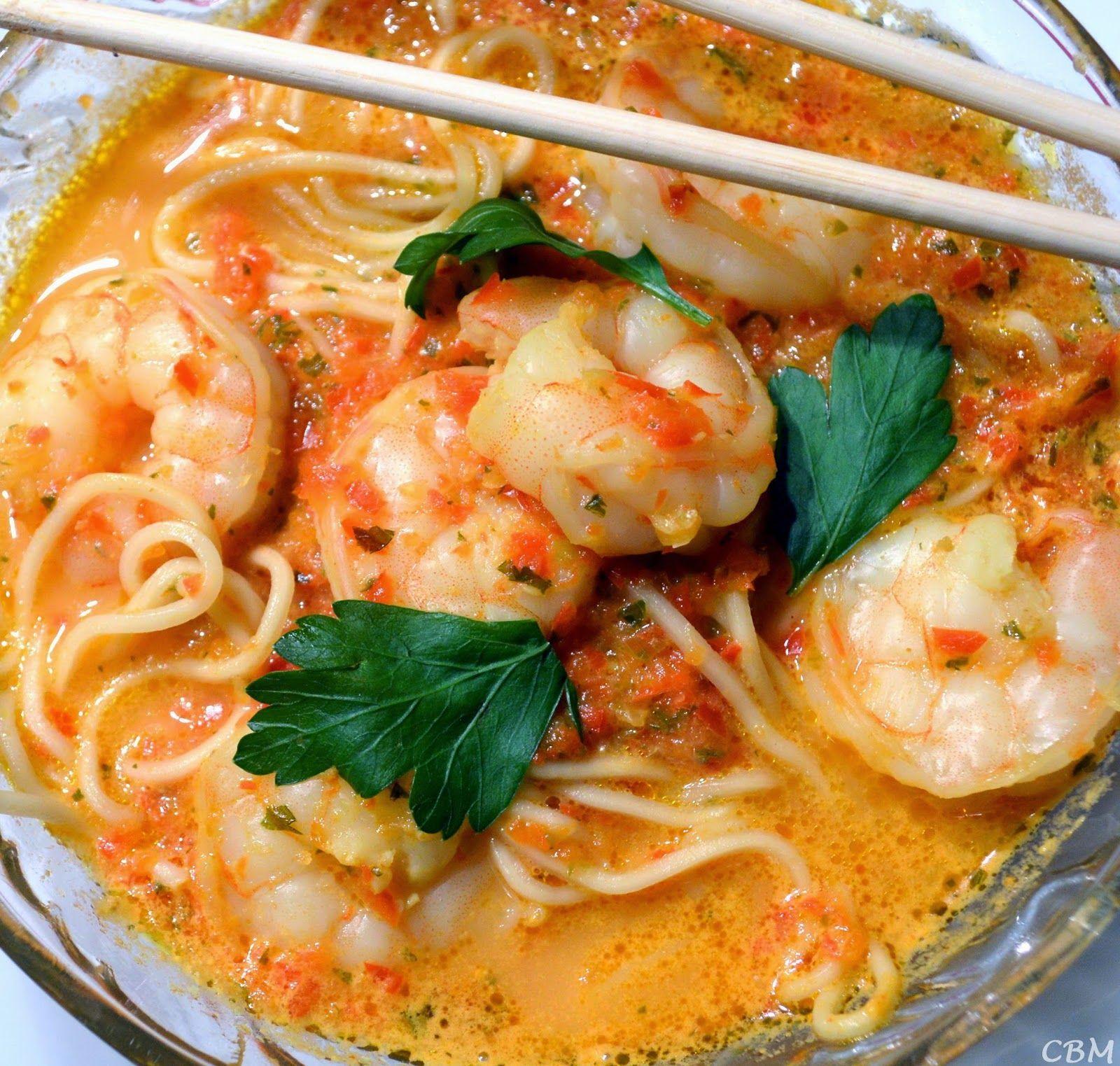 Dans la cuisine de Blanc-manger: Potage Laksa aux crevettes