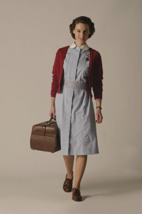 Call the Midwife S2 - Cast: Jenny Lee (JESSICA RAINE) Photo: Sven Arnstein © Sven Arnstein/Stay Still/Photoshot. 2012