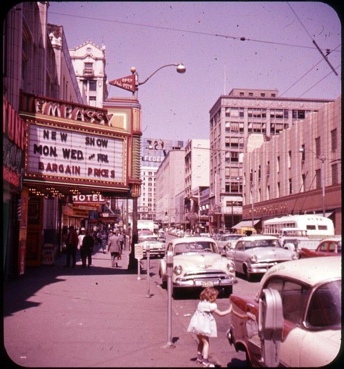The Embassy Theatre And 3rd Avenue Seattle 1950s Bruce Thomas