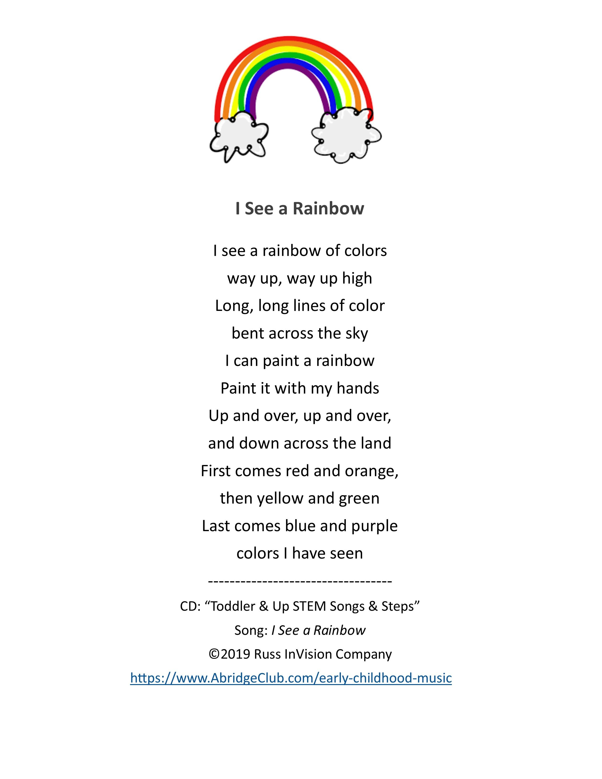 Toddler & Preschool Songs | Rainbows, Colors, STEM | Music & Movement | AbridgeClub.com
