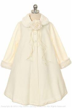 Deep warm ivory girl's coat by Dream Kids