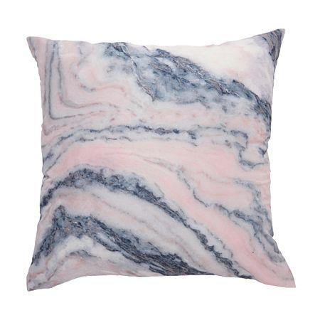 Living & Co Cushion Marble Blush 43cm x 43cm