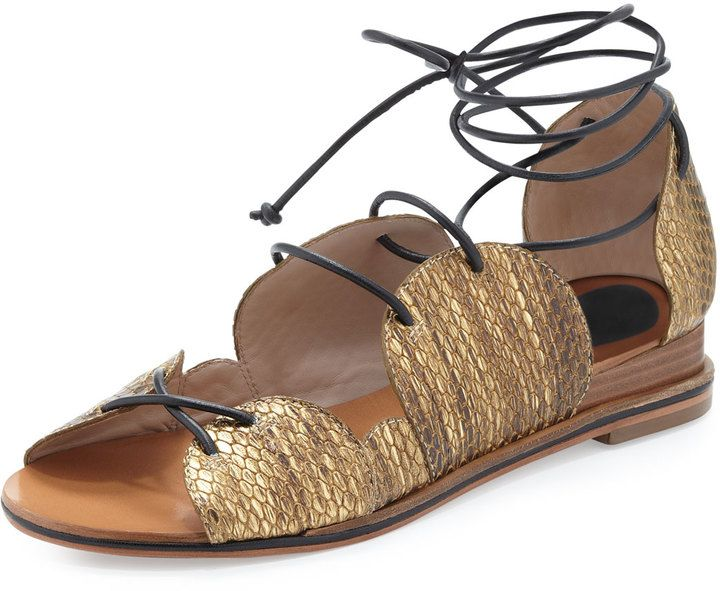 Derek Lam 10 Crosby Snakeskin Slide Sandals shop offer cheap online TMtjbFMlD