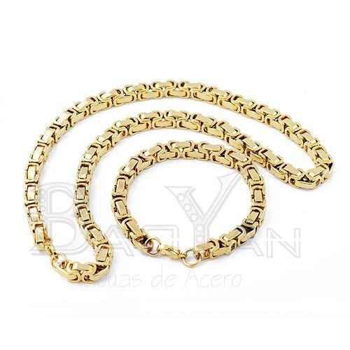 c0d75c1f4fad diseño limpio cadena dorada para caballeros de venta de bisutería online  Cadenas De Oro Para Hombres