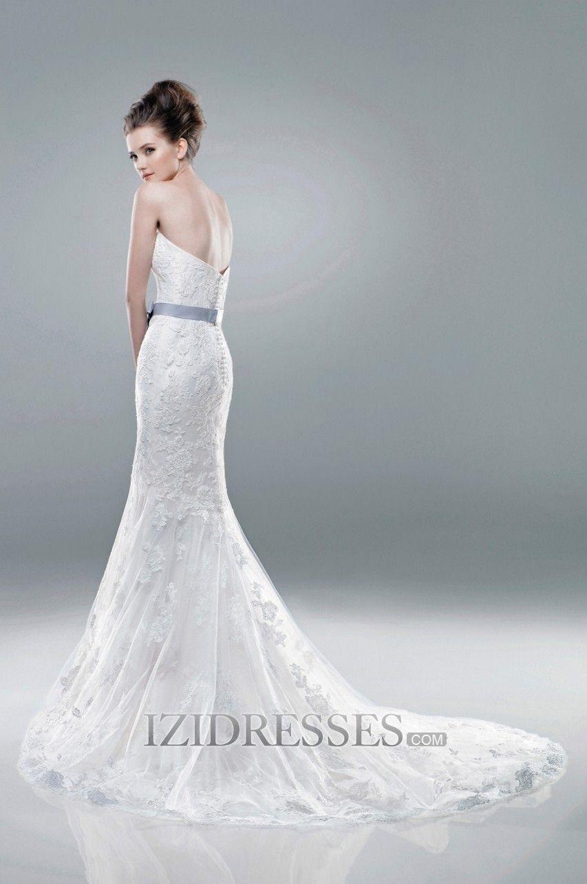 Belles wedding dress  TrumpetMermaid Sweetheart Strapless Lace Wedding Dress  IZIDRESSES