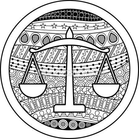 Vectores De Stock De Colorear Dibujos Ilustraciones Sin Royalties De Colorear Dibujos Página 353 Signos Del Zodiaco Signos Zodiacales Dibujos Para Colorear