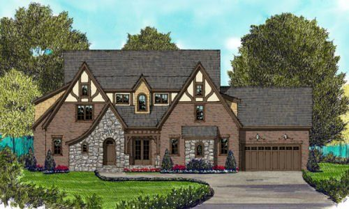 Tudor Style House Plan 5 Beds 5 5 Baths 4818 Sq Ft Plan 413 862