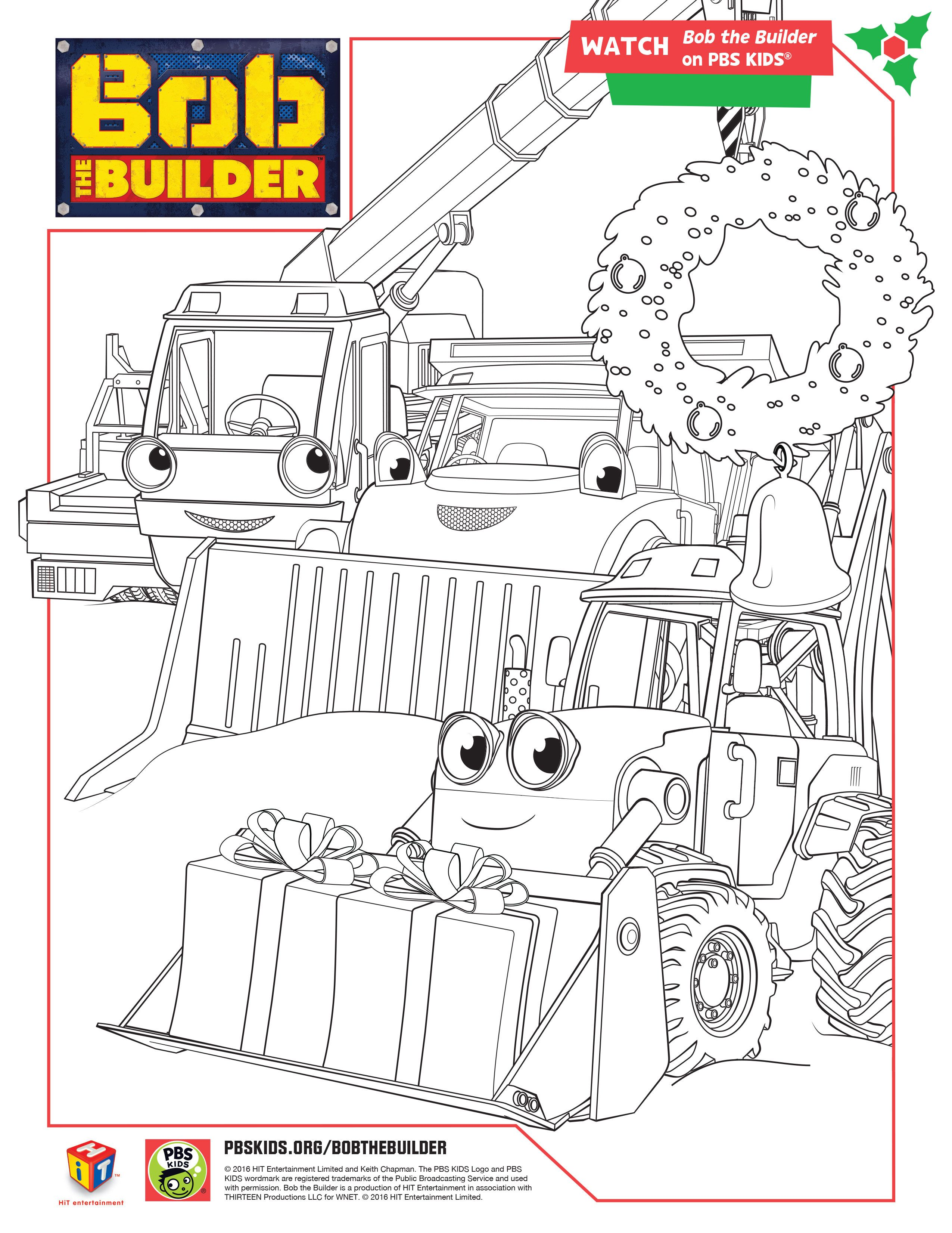 Bob The Builder Holiday Coloring Pages Bobthebuilder