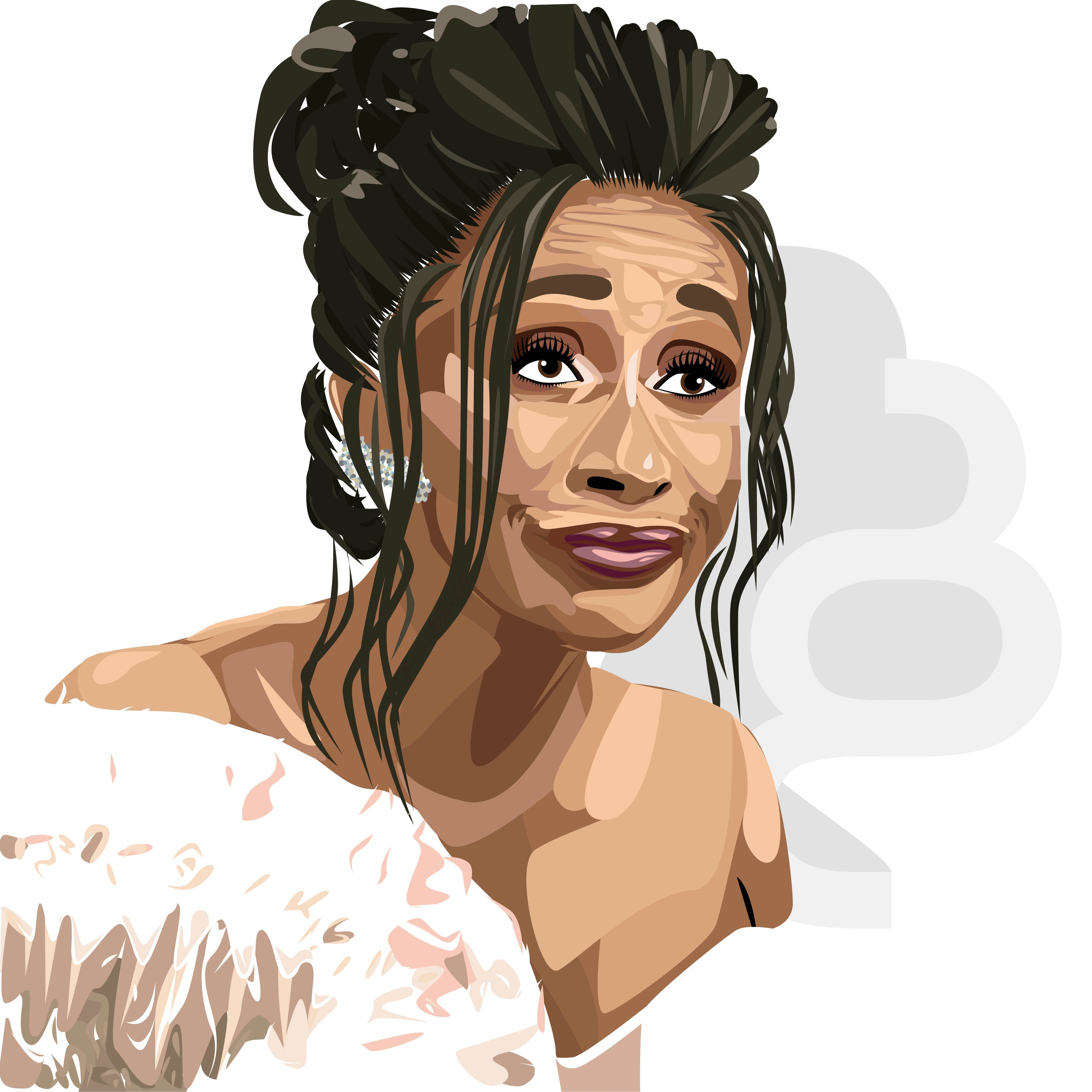 Artwork Cardi B Cartoon Wallpaper