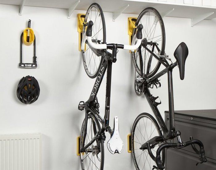 Endo Fold Flat Vertical Bike Storage System By Cycloc Vertical