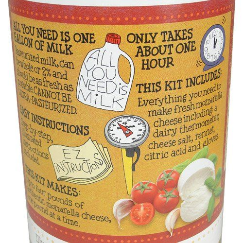 Roaring Brook Dairy Mozzarella Cheesemaking Kit Amazon Com Grocery Gourmet Food Cheesemaking Mozzarella Cooking With Kids