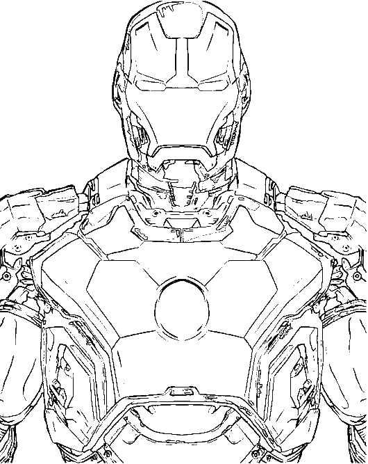 The Most Advanced Robot Iron Man Coloring For Kids Super Hero Coloring Pages Kidsdrawing Fre Super Hero Coloring Sheets Coloring Books Superhero Coloring
