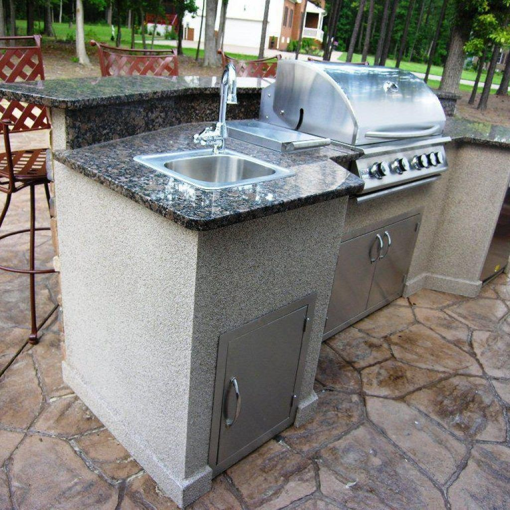 Outdoor Kitchen Island Frame Kit With Bartop Outdoor Kitchen Island Outdoor Kitchen Sink Outdoor Kitchen Kits