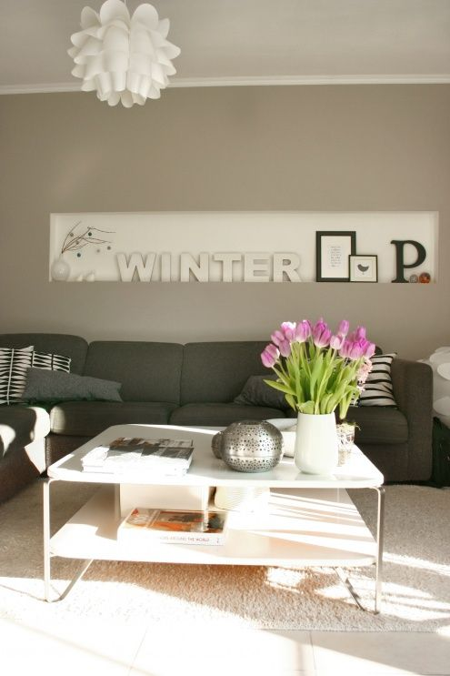 Grau, Weiß, Lila und Grün von sotti Wohnzimmer Ideen Pinterest - wohnzimmer lila weis