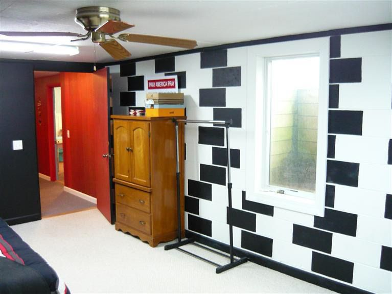 Good way to cover up cinder block walls in the basement - Concrete block painting ideas ...