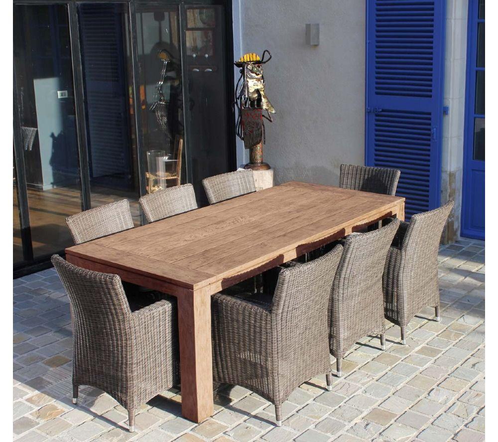Salon de jardin repas VINTAGE | Promotion Carrefour | Pinterest ...