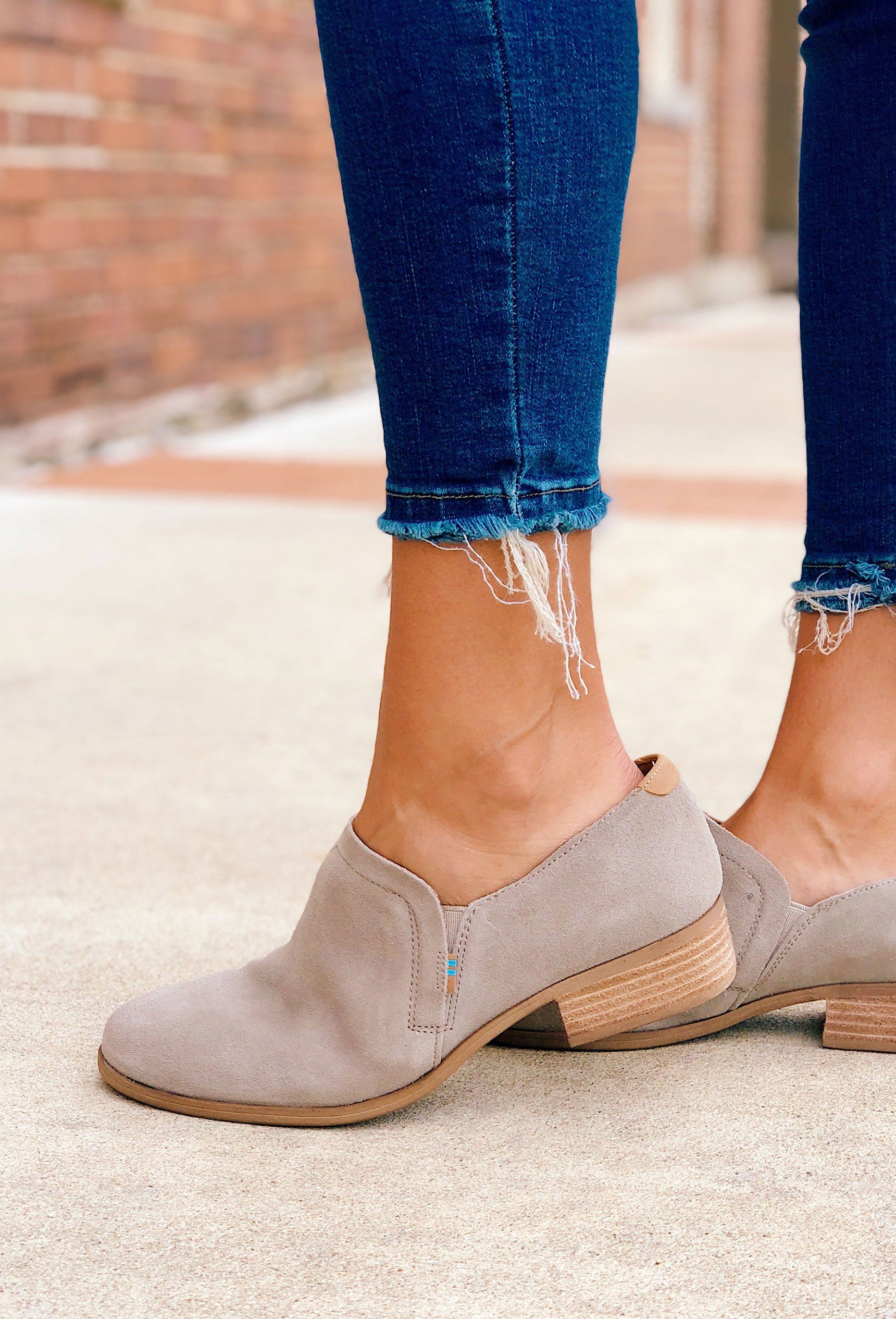 d897fa2413d7c TOMS Shaye Booties in Desert Taupe Suede