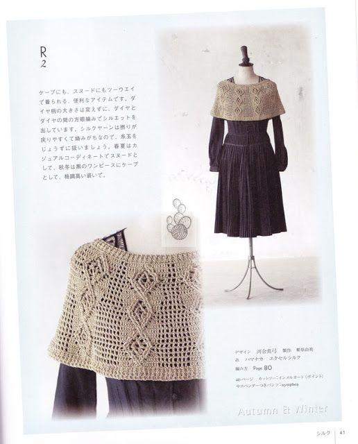 Irish crochet &: CROCHET CAPE. | Crochet winterwear | Pinterest