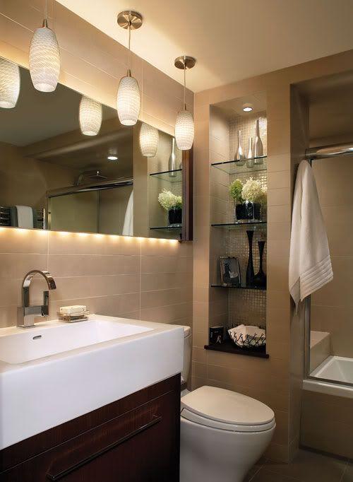 Cómo limpiar el cuarto de baño pequeño (la idea de almacenamiento ...