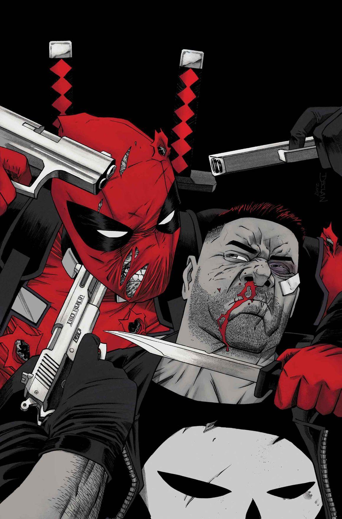 #Deadpool #Fan #Art. Deadpool vs. The Punisher (2017) #3 (of 5) Cover) By: Declan Shalvey. ÅWESOMENESS!!!™ ÅÅÅ+
