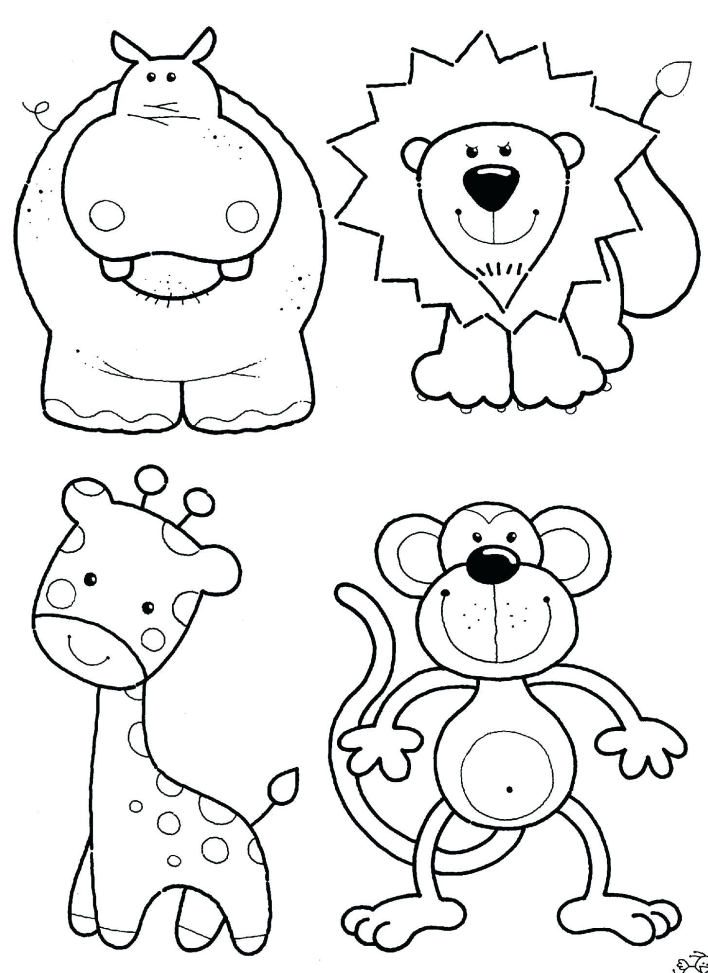 10 Printable Zoo Animal Coloring Sheets in 10  Zoo coloring