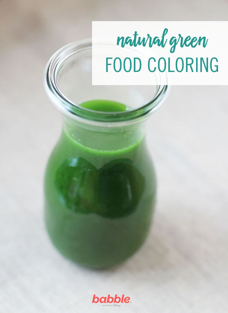 How to Make Natural Green Food Coloring | Booty at the End ...
