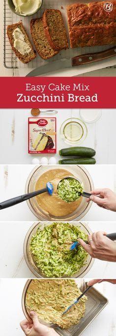 easy cake mix zucchini bread  recipe  zucchini bread