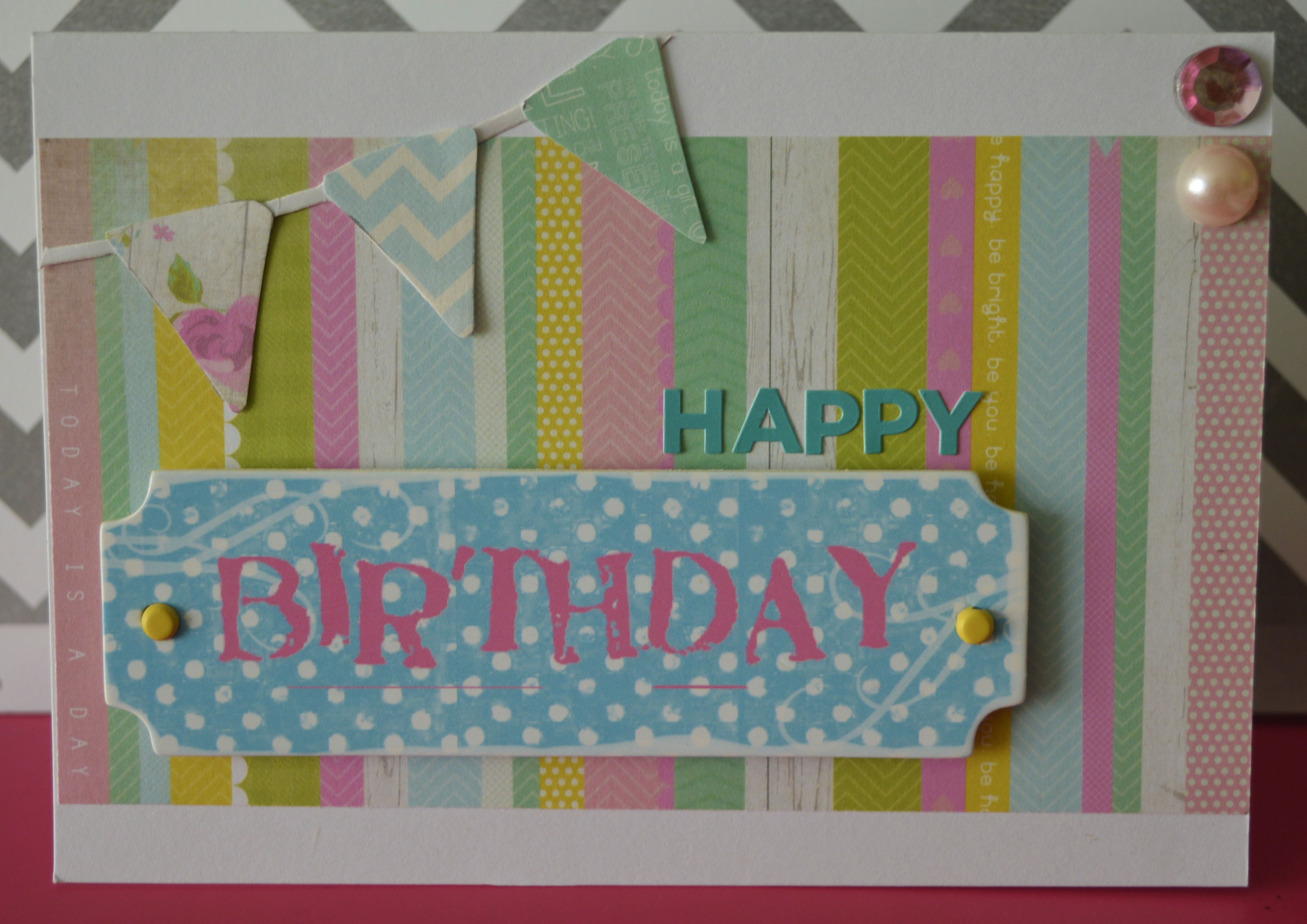 Birthday card bunting birthday handmade cardmaking my card