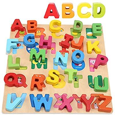 Wondertoys Wooden Alphabet Puzzle Board for 1 2 3 Years ...