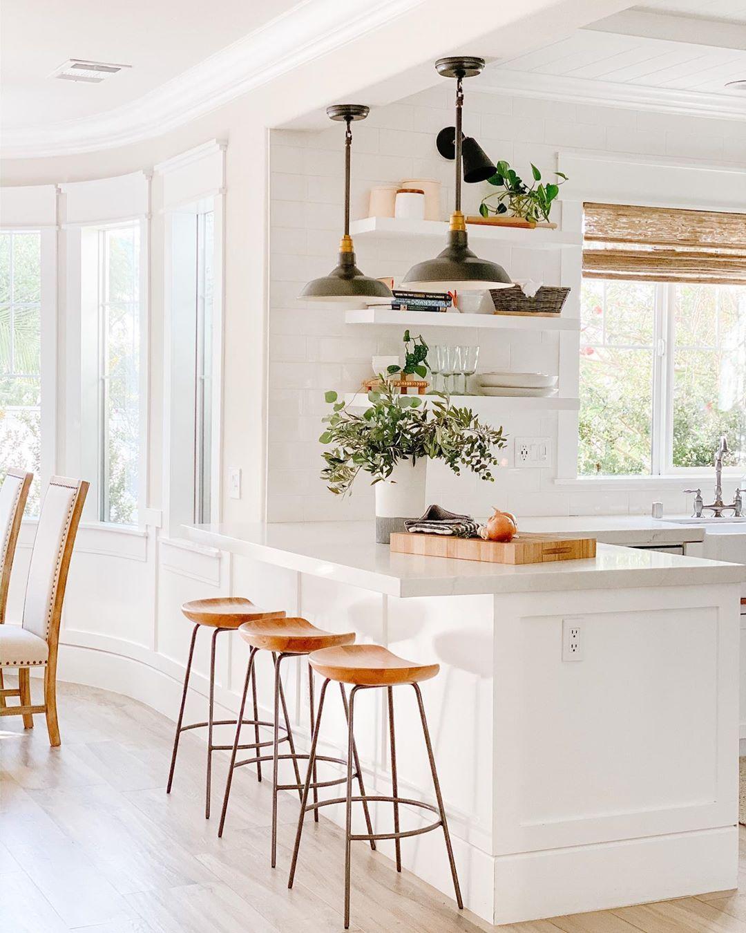 White Modern Farmhouse Kitchen Light And Bright