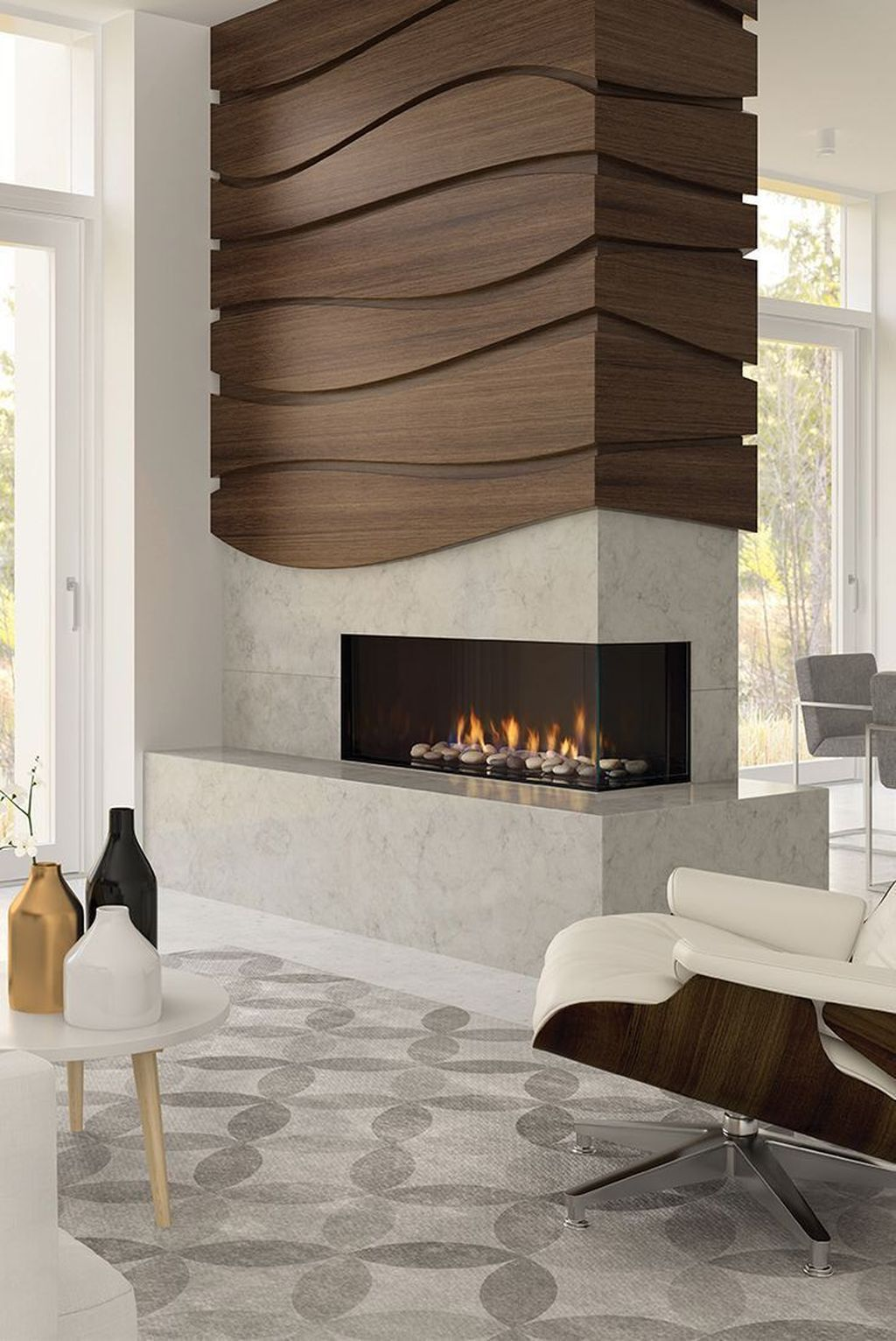 36 Lovely Tile Wall For Living Room Decorations In