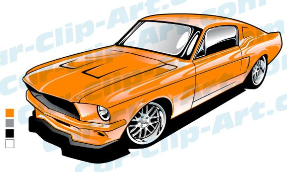67 Mustang Vector Art Org
