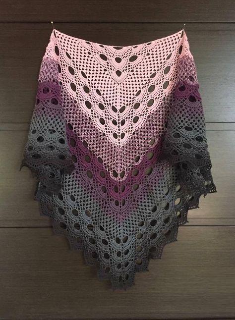 Crochet Beautiful Shawl (Sashay Yarn | cardigan | Pinterest | Häkeln ...