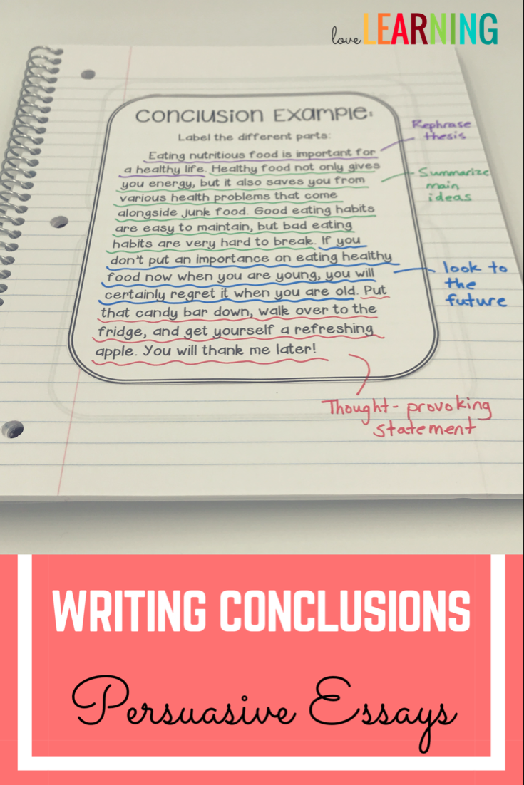 writing conclusions for persuasive essays powerpoint and teaching students to write effective conclusions to end their essays can be tricky this strategy