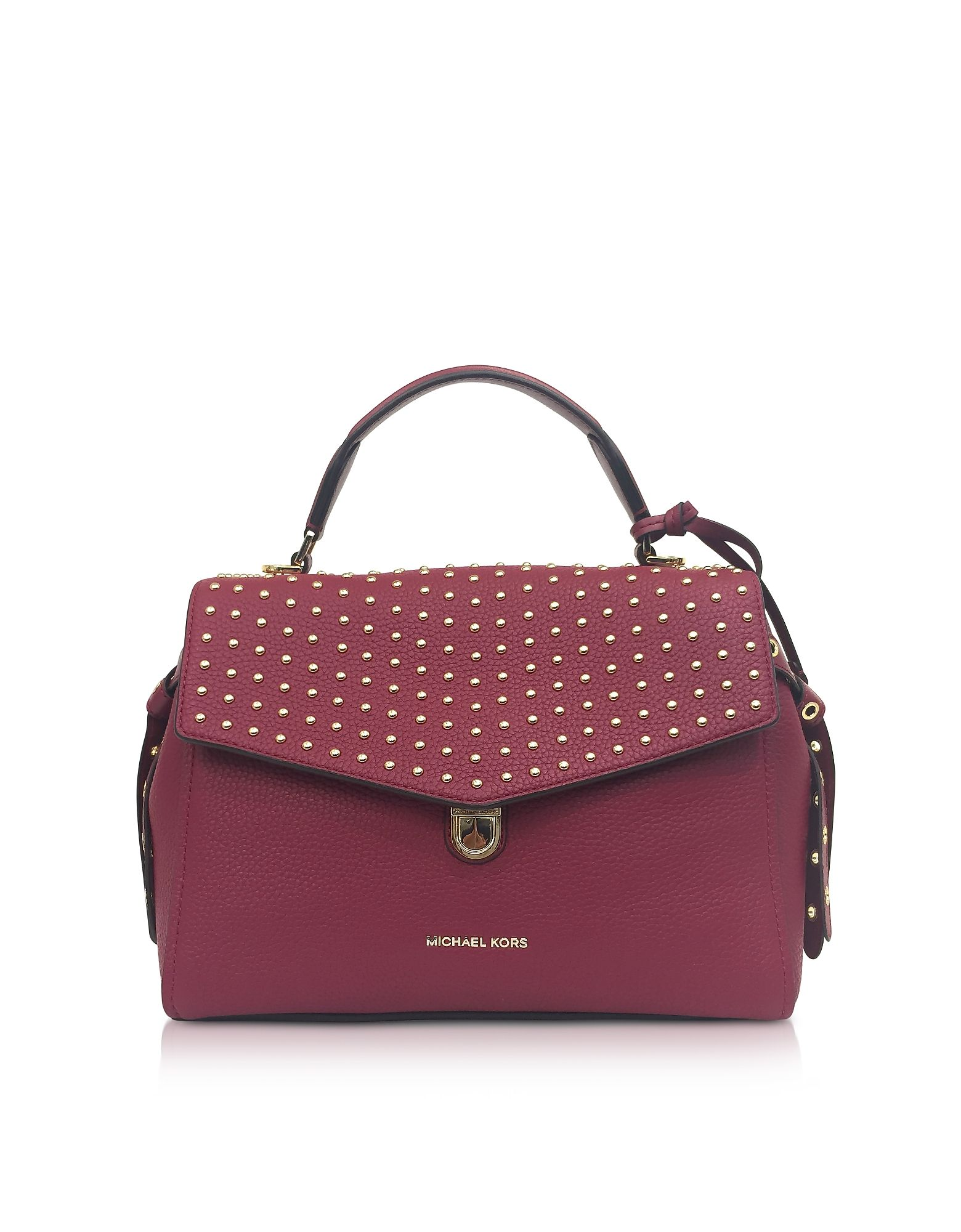 04c5846726d8 ... where to buy michael kors bristol mulberry studded leather top handle  satchel bag. michaelkors bags