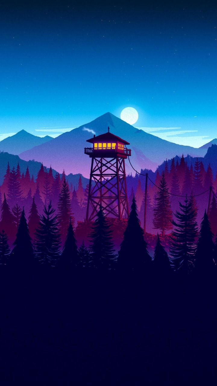 Firewatch game sunset artwork Video Game wallpapers in