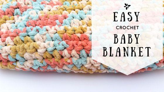 Easy Crochet Baby Blanket Pattern Easy Crochet Crochet Baby