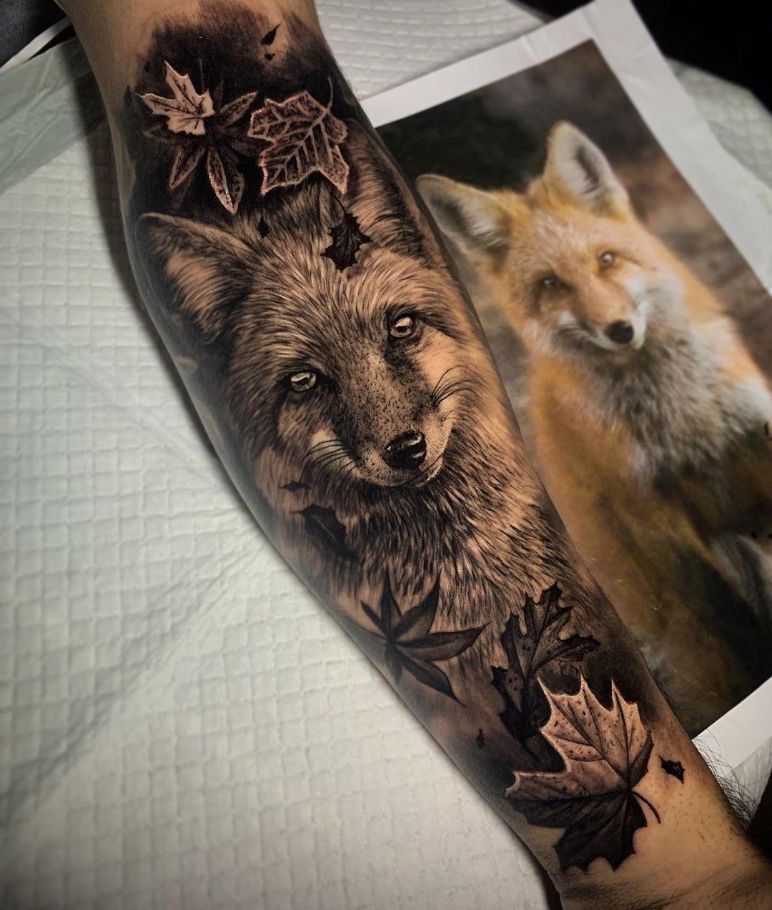 Dylan Weber Tattoo Artist Animal Sleeve Tattoo Red Fox Tattoos Dragon Sleeve Tattoos