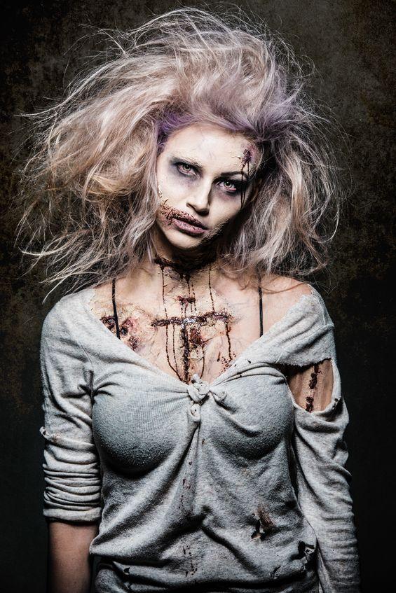 Zombie Halloween Makeup Ideas | Halloween zombie, Zombie makeup ...