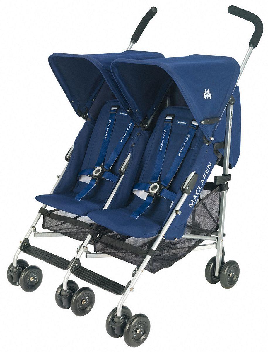 Maclaren Twin Triumph Double Stroller in Navy Double