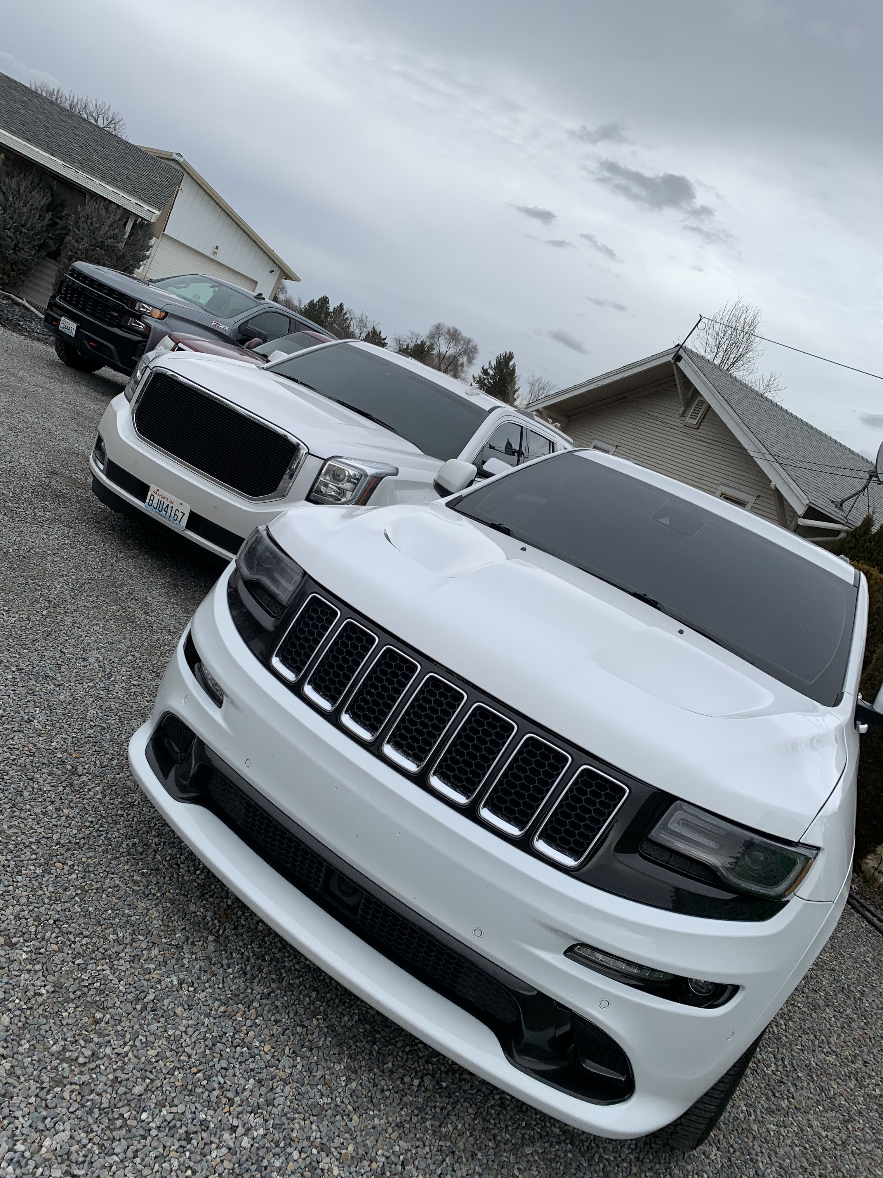 All these suvs here getting their full front windshield