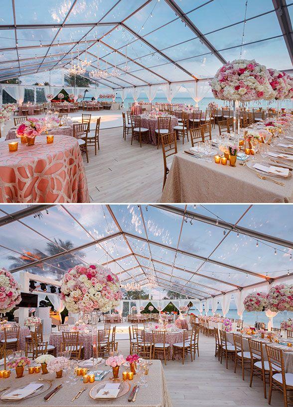 Tent Goals Beach Wedding Reception