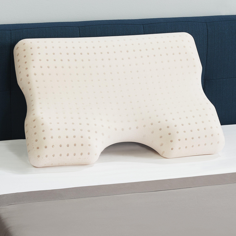Copperfresh Advanced Contour Gel Memory Foam Pillow Brown Sleep