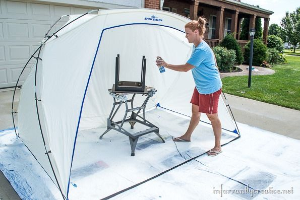 Home Right Spray Tent Shelter Diy Chic Absauganlage Lackieren