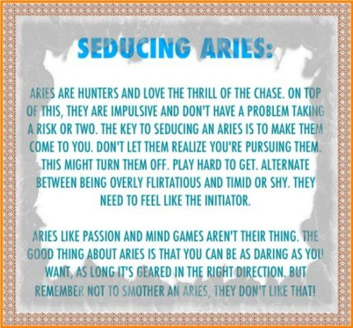 How to seduce aries woman