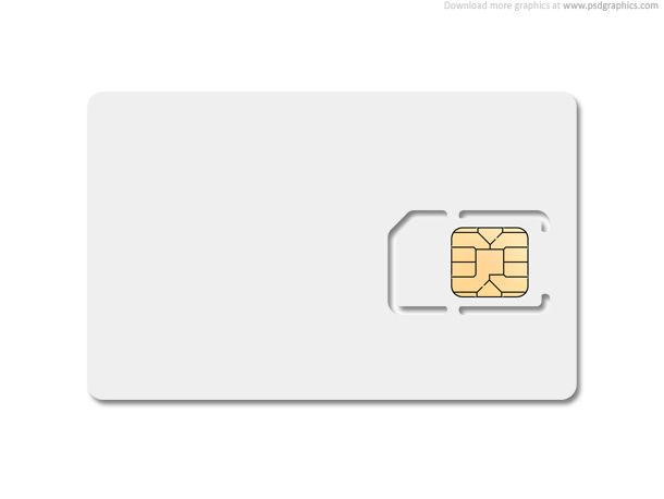 Blank SIM card template, edit layered PSD file and put