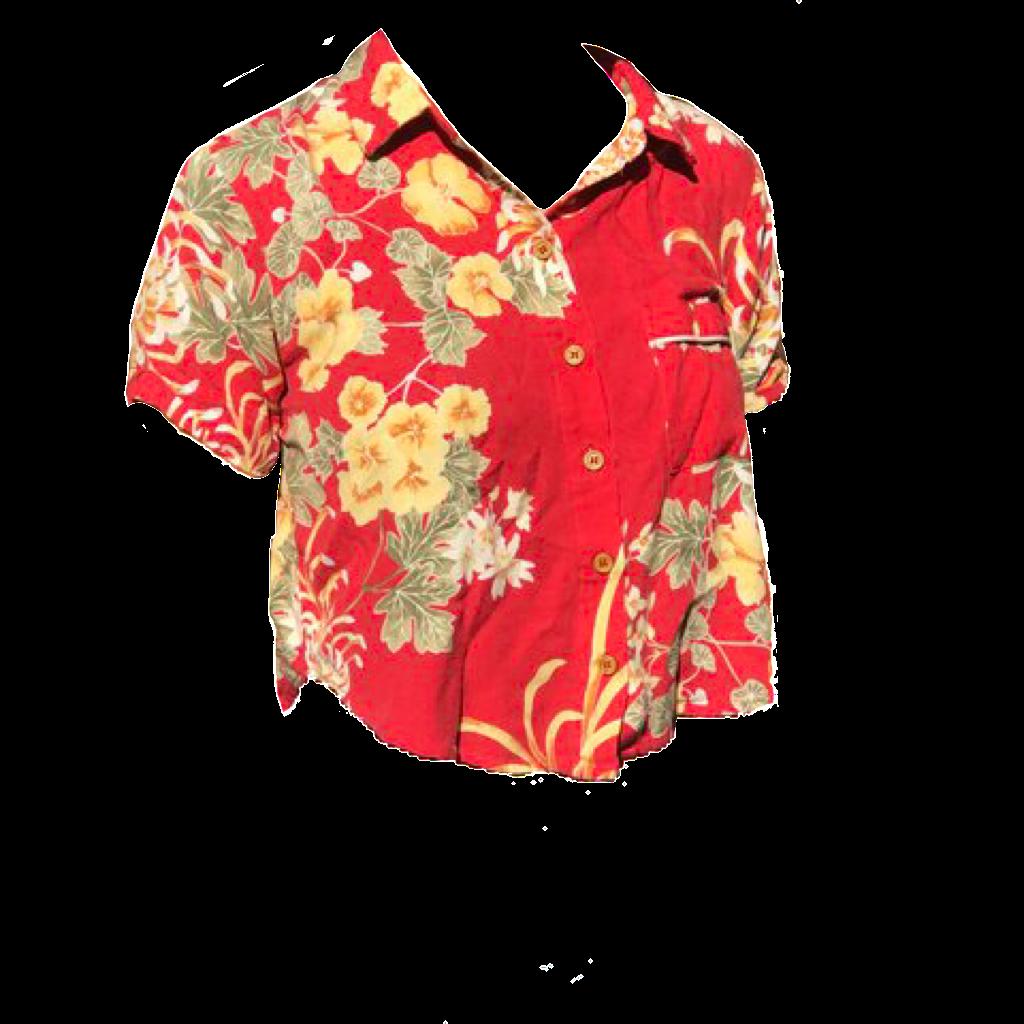 Polyvore Png Hawaiian Crop Shirt Hawaiian Shirt Women Clothes For Women Clothes